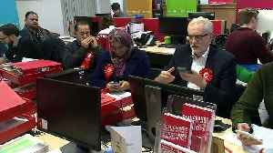 Jeremy Corbyn takes part in phone banking in Glasgow [Video]