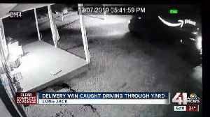 Amazon worker caught on cam driving through yard [Video]