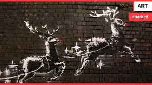 Outrage after new Banksy Christmas graffiti is defaced [Video]