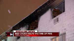 Red cross helps victims following apartment fire [Video]