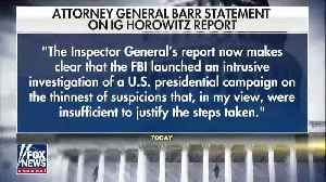 AG Bill Barr Issues A Harsh Statement In Response To The IG Report [Video]