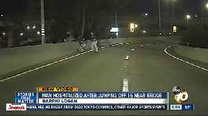 Man hurt after jumping off I-5 [Video]