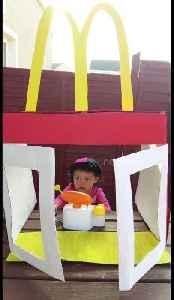 Irish mum builds her daughters their very own mini McDonald's drive-thru [Video]