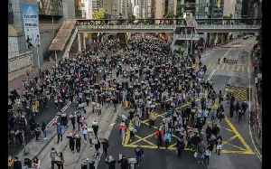 Timelapse footage captures thousands of Hongkongers marching to mark 6 months of protests [Video]