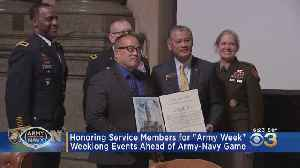 Philadelphia Officials Honor Service Members Ahead Of Army-Navy Game [Video]