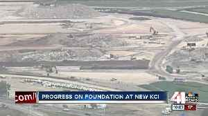 Progress on foundation at new KCI [Video]