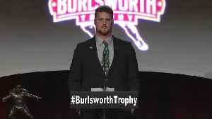 Kenny Willekes Wins Burlsworth Trophy [Video]