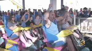 Thrill Seekers Take On 'Polar Coaster Challenge' At Six Flags [Video]