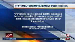Rep. Francis Rooney issues statement on impeachment hearings [Video]