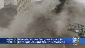 Historic Honus Wagner House In Carnegie Catches Fire [Video]