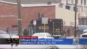 SWAT Teams Search For Suspects In Jersey City After Officers Shot [Video]