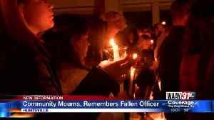 HUNDREDS SHOW SUPPORT AT FALLEN HUNTSVILLE OFFICER CANDLELIGHT VIGIL [Video]