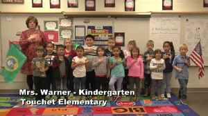 Raise the Flag - Mrs. Warner's Kindergarten class at Touchet Elementary [Video]