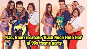 KJo, Gauri Khan recreate 'Kuch Kuch Hota Hai' at 90s theme party [Video]