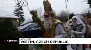 Masked devils march through Czech village in pre-Christmas tradition [Video]