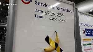 London Underground station parodies banana artwork that sold for $120,000 [Video]