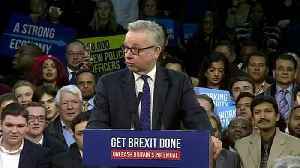 Gove blasts Corbyn during final rally before election [Video]