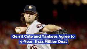 Gerrit Cole Signs Nine Year Deal [Video]