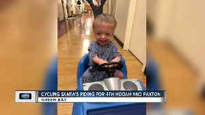 Cycling Santas collecting for 4th Hooah and Paxton [Video]