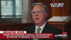 News video: AG Bill Barr Maintains That The Trump Campaign Was 'Clearly Spied Upon'
