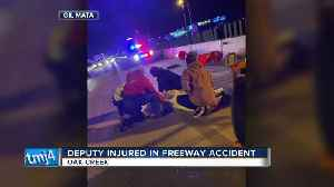 Deputy injured in freeway accident [Video]