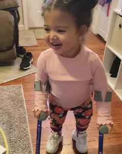 Little Girl With Paralysis Adorably Walks And Chases Mom With Help Of Forearm Crutches [Video]