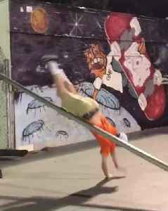 Guy Slips And Hits Crotch Badly While Trying To Skateboard On Handrail [Video]