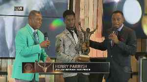 Columbus High School Football RB Henry Parrish Wins Inaugural CBS4 Nat Moore Trophy [Video]