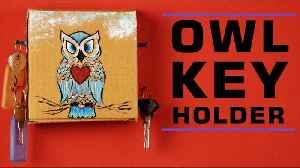 Owl Key Holder | Art & Craft | Home Decor [Video]