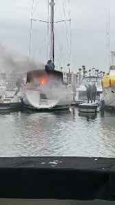 Quick Thinking Stops Boat from Burning [Video]