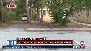 FMPD canvassing neighborhood near Franklin St. after deadly shooting [Video]