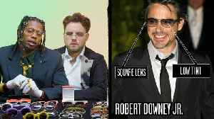 Glasses Experts Break Down Celebrity Sunglasses (Robert Downey Jr, Samuel L. Jackson) Part 2 [Video]