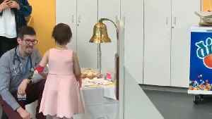 Little Girl Adorably Rings Bell Post Successful Cancer Treatment [Video]