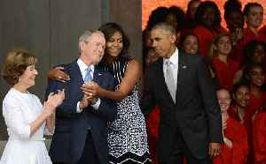 News video: Michelle Obama Talks About Her Friendship With George W. Bush