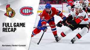 NHL Highlights | Senators @ Canadiens 12/11/19 [Video]