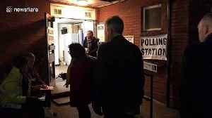 Voters arrive at St Albans polling station to vote in UK's general election [Video]