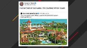 Trump Promotes Mar-a-Lago On Twitter, Calls It 'Southern White House' [Video]