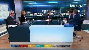 News video: George Osborne reacts to exit poll
