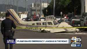 Small plane crash lands on north Phoenix street with two on board [Video]