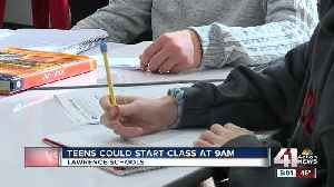 Lawrence Schools to give students 3 different start times [Video]