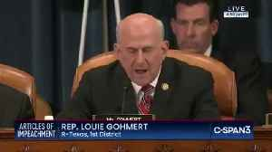 Rep. Louie Gohmert Drops Name Of Alleged Whistleblower During Impeachment Hearing [Video]