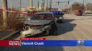 Robbins Police Car Stolen, Ends Up Crashing [Video]