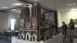Gingerbread Notre Dame Cathedral [Video]