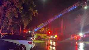 WEB EXTRA: Miami-Dade Firefighters Elevated To Battle Cutler Bay Apartment Fire [Video]