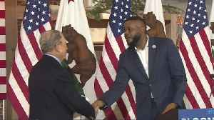 Presidential Candidate Michael Bloomberg Visits Stockton [Video]