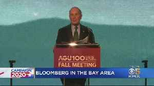 Michael Bloomberg Talks Climate Change With Former Gov. Brown In San Francisco [Video]