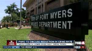 Fort Myers Police to discuss crime rate reductions Thursday [Video]