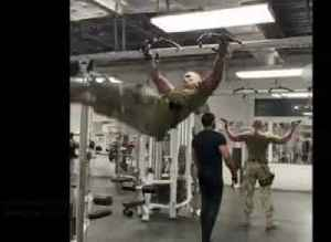 Soldier shows off stunning workout routine in Afghanistan [Video]