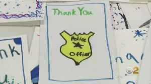 Students Make Cards For Long Island Cops [Video]