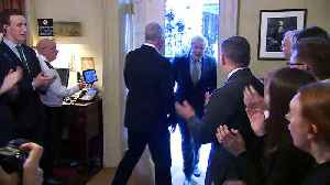 Boris Johnson met with cheers at 10 Downing Street [Video]